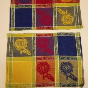 Set of two Woven Sunflower Placemats